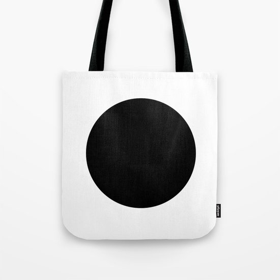 The Circle – Black Tote Bag