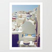 Santorini Lounge Art Print