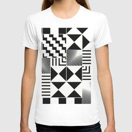 Mosaic Black And White Pattern T-shirt