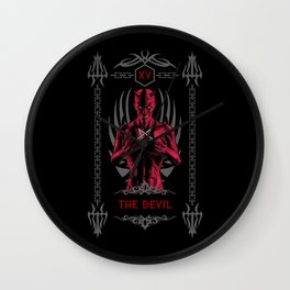 The Devil XV Tarot Card Wall Clock