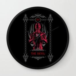 The Devil XV Tarot Card Wall Clock