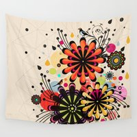blossom Wall Tapestries featuring Blossom by Kakel