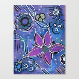 Purple Flowers Background Canvas Print