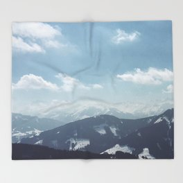 The alps 1 Throw Blanket