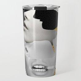 collage art / Faces Travel Mug