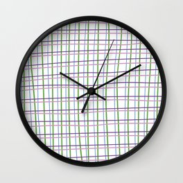 Textura cuadros Wall Clock