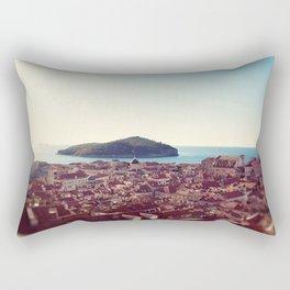 View over Dubrovnik Croatia Rectangular Pillow