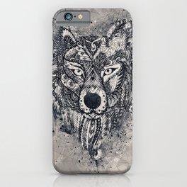 Wolf, Geometric, Illustration, Wild, Boho Art iPhone Case