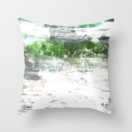 Loving the Waves series - Green 1 Throw Pillow