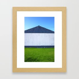 House symmetry Framed Art Print