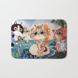 The Birth of Venus: cats version Bath Mat