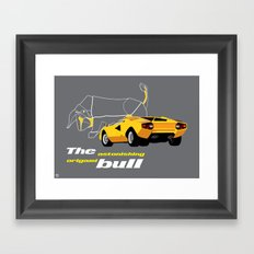 Origami Bull Framed Art Print