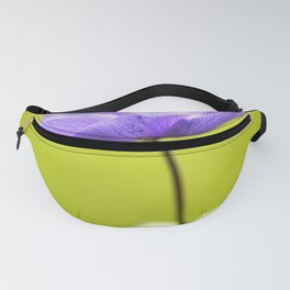 Purple Anemone Natural Green Background Fanny Pack