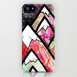 As the high peaks grow iPhone Case