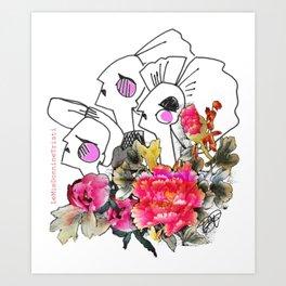 Peonie Art Print
