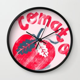 Tomato - by Kara Peters Wall Clock