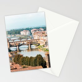 Ponte Vecchio on Arno River Stationery Cards