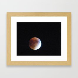 Supermoon Eclipse 3 Framed Art Print