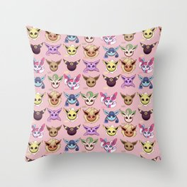 Eeveelutions Pink Throw Pillow