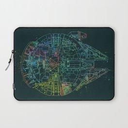 Millennium Falcon Painters Schematic Laptop Sleeve