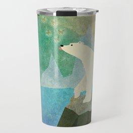 Playful Arctic Polar Bear Travel Mug