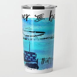 Graphic Art Summer & Beach Travel Mug