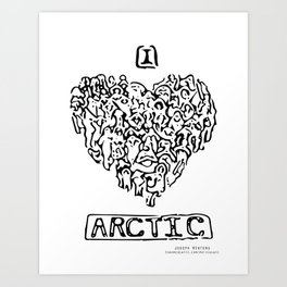 I Heart Arctic By Joseph Winters Art Print