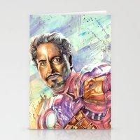 tony stark Stationery Cards featuring Tony Stark by Trenita