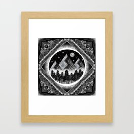 Touch the Mountains Framed Art Print