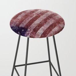 US Flag vintage worn out Bar Stool