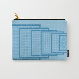 Blue Blocks big to Small Carry-All Pouch