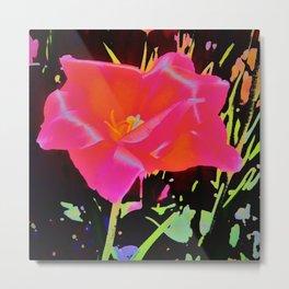 Glowing Flower Metal Print