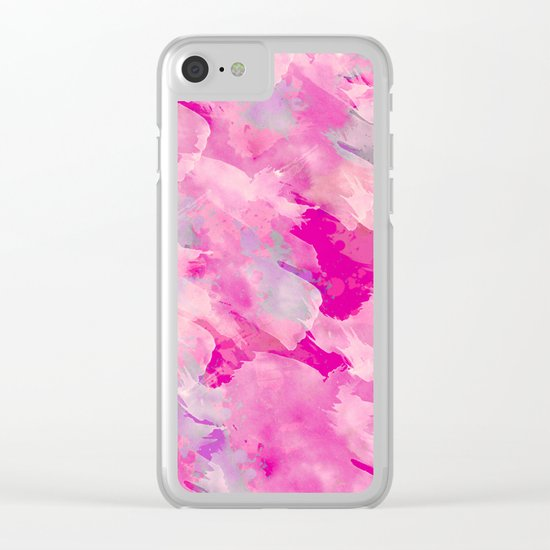 Abstract 46 Clear iPhone Case