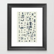 Pattern v10 Framed Art Print