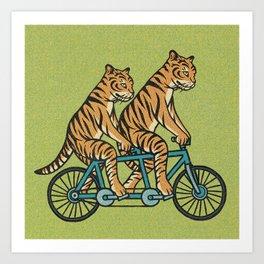 Tiger Tandem Art Print