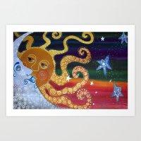 celestial Art Prints featuring Celestial by Laura Barbosa Art