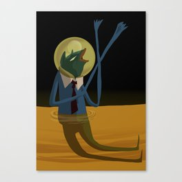 The Green Slime Canvas Print