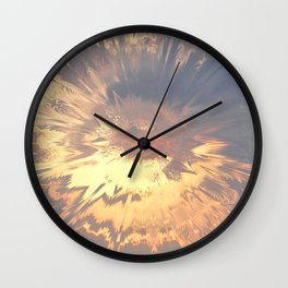 Sunset mandala explosion Wall Clock