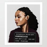 Banned Books Mugshots: Janie Art Print