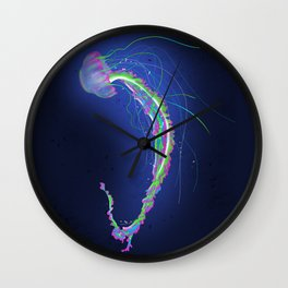 Swimming Jellyfish Wall Clock