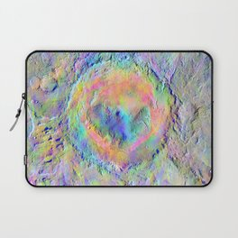 Iridescent Rainbow Moon Surface Laptop Sleeve