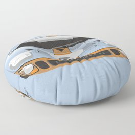 Ford GT40 in Gulf Oil livery Floor Pillow