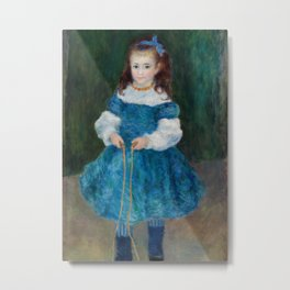 Girl with a Jump Rope (Portrait of Delphine Legrand) Metal Print