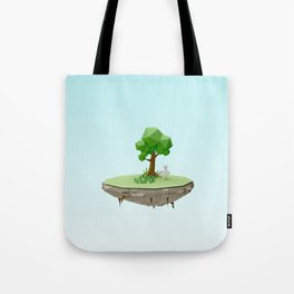 Low Poly Bunny Island Tote Bag