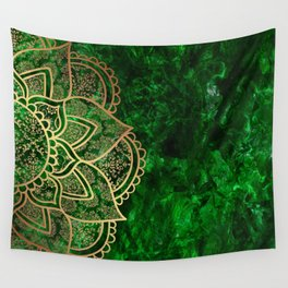 Mandala - Emerald Wall Tapestry
