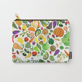 Fruit and Veg Pattern Carry-All Pouch