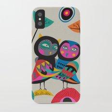 Owls hugging iPhone X Slim Case