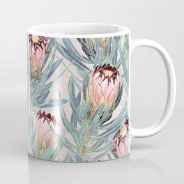 Pale Painted Protea Neriifolia Coffee Mug