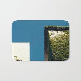 White Square, Green Square, Blue Sky Bath Mat