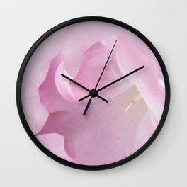Pink Moonflower Wall Clock
